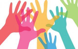 Kolorowe dłonie