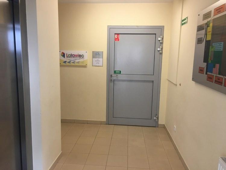 Wejście do biura Basenu Arena.