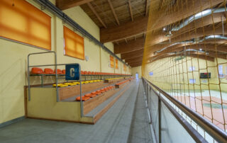 Trybuny w Hali sportowej