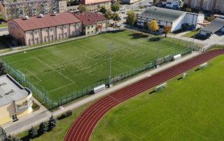 Boiska piłkarskie- widok z lotu ptaka