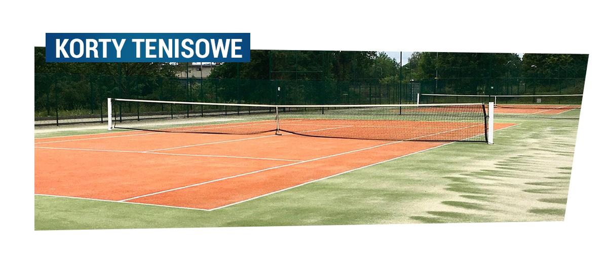 Korty tenisowe przy Kompleksie Arena. Po kliknięciu przejdziesz w zakładkę Squash i tenis ziemny.